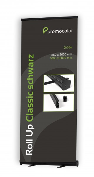 Roll Up Classic schwarz 100 cm