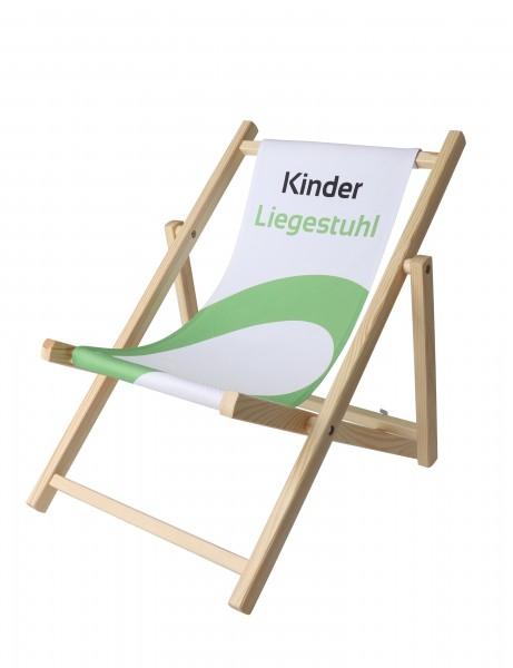 Kinderliegestuhl farblos Digitaldruck