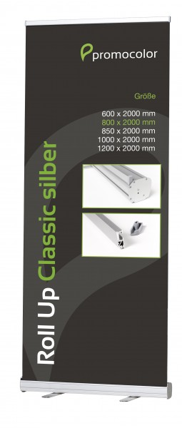 Roll Up Classic silber 80 cm