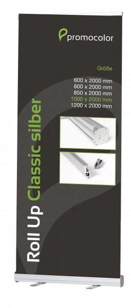 Roll Up Classic silber 100 cm