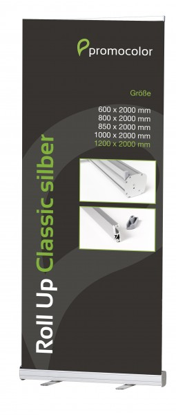 Roll Up Classic silber 120 cm